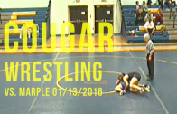 Cougar Wrestling vs. Marple Tigers 01/13/2016