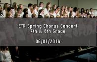 7th & 8th Grade Spring Chorus Concert 06/01/2016