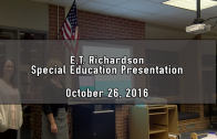 E.T. Richardson Special Education Presentation 10/26/2016