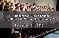 7th & 8th Grade Winter Chorus Concert 12/12/2016