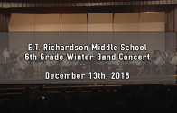 6th Grade Winter Band Concert 12/13/2016