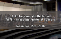 7th & 8th Grade Winter Instrumental Concert 12/15/2016