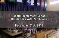 Holiday Tea with 2nd Grade 12/21/2016