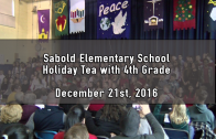 Holiday Tea with 4th Grade 12/21/2016