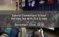Holiday Tea with 3rd Grade 12/22/2016