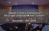 Scenic & Sabold 5th Grade Combined Winter Concert 12/19/2016