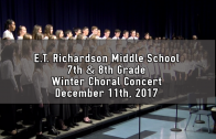7th & 8th Grade Winter Chorus Concert 12/11/2017